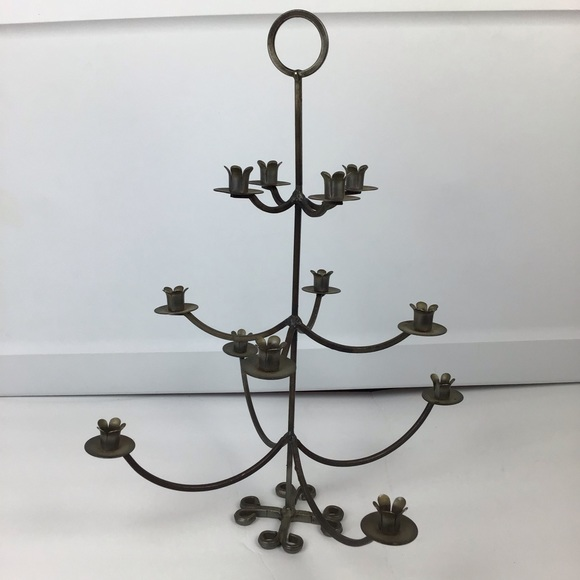 VTG Made in Sweden wrought iron candle tree holder